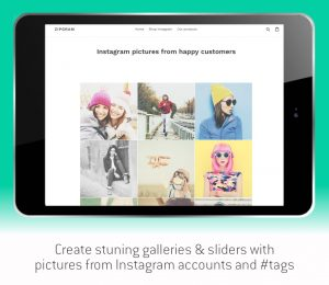 create stunning galleries and sliders with pictures from Instagram accounts and hashtags