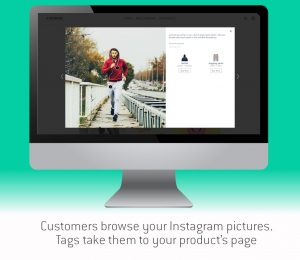 Customers browse your instagram pictures. Tags take them to your product's page